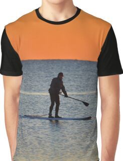 Standup Paddleboarding Across Nicoll Bay At Dawn | Great River, New York Graphic T-Shirt