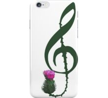 Treble Clef, thistle flower iPhone Case/Skin
