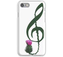 Treble Clef, thistle flower iPhone Case/Skin