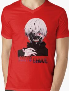 Kaneki Ken Tokyo Ghoul Anime Mens V-Neck T-Shirt