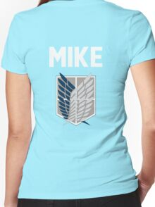 Attack On Titan - Mike  Women's Fitted V-Neck T-Shirt