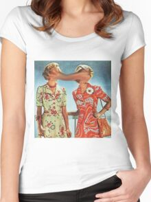 Look up here  Women's Fitted Scoop T-Shirt