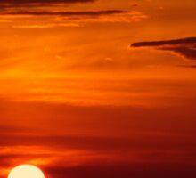 Red sky at night, sailor's delight... Sticker