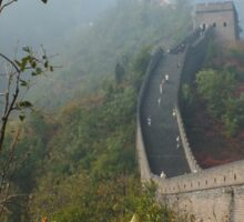 Harvest Time at The Great Wall of China Sticker