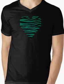0058 Bottle Green or Bangladesh Green Tiger Mens V-Neck T-Shirt