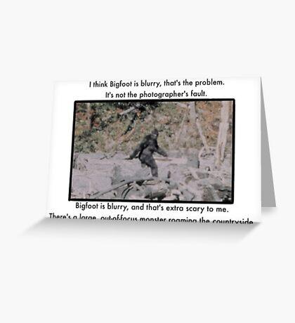 Mitch Hedberg Bigfoot Greeting Card