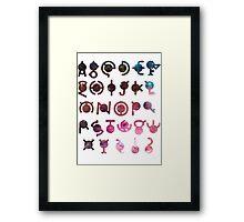 Unown #201 Framed Print