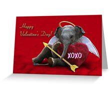 Valentine's Day Elephant XOXO Greeting Card