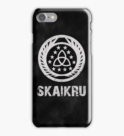 The 100 Skaikru Symbol [Black] iPhone Case/Skin