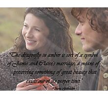Dragonfly in Amber/Jamie & Claire Photographic Print