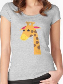 Cute Giraffe with a long neck  Women's Fitted Scoop T-Shirt