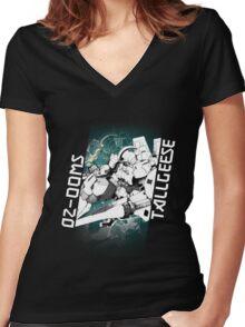 OZ-00MS TALLGEESE (Black) Women's Fitted V-Neck T-Shirt