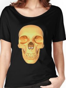 human skull gold Women's Relaxed Fit T-Shirt