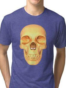human skull gold Tri-blend T-Shirt