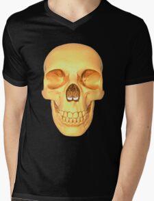 human skull gold Mens V-Neck T-Shirt