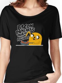 "Jake - Adventure Time ""pancakes"" Women's Relaxed Fit T-Shirt"