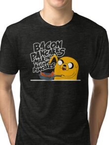 "Jake - Adventure Time ""pancakes"" Tri-blend T-Shirt"