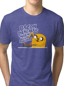 "Jake - Adventure Time ""pancakes"" Tri-blend T-Shirt"