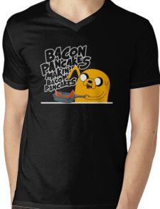 "Jake - Adventure Time ""pancakes"" Mens V-Neck T-Shirt"