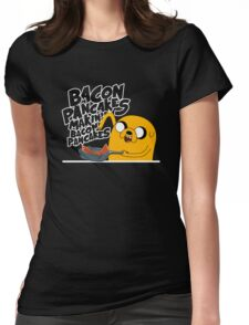 """Jake - Adventure Time """"pancakes"""" Womens Fitted T-Shirt"""