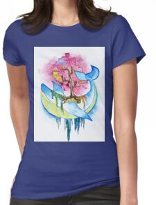 Nature Whale Womens Fitted T-Shirt