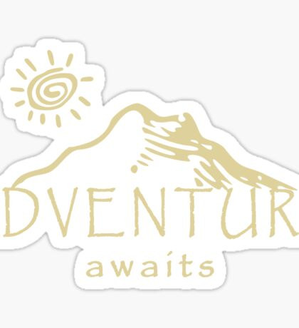 Adventure Awaits - Mountain and Sun ( Light Version)  Sticker