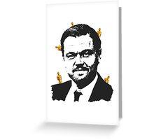 Leonardo DiCaprio Oscars w Greeting Card
