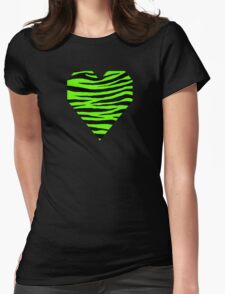 0064 Bright Green Tiger Womens Fitted T-Shirt