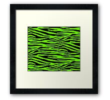 0064 Bright Green Tiger Framed Print