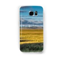 Landscape: wind turbines, kangaroos and a dry lake Samsung Galaxy Case/Skin