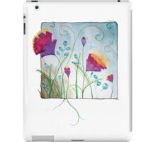 Framed fantasy flowers iPad Case/Skin