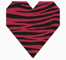 0066 Bright Maroon or Maroon (Crayola) Tiger One Piece - Short Sleeve