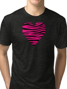 0067 Bright Pink or Rose Tiger Tri-blend T-Shirt