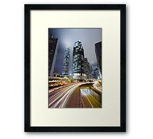 Night HK Framed Print