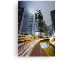 Night HK Canvas Print