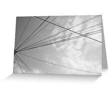 Power pole 2 Greeting Card