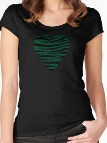 0073 British Racing Green Women's Fitted Scoop T-Shirt