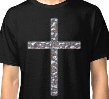 Chrome Crucifix Solid Classic T-Shirt