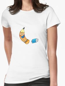 Funny pencil & eraser cartoon Womens Fitted T-Shirt