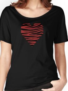 0075 Web Brown Tiger Women's Relaxed Fit T-Shirt