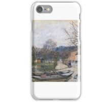 Flood at Port-Marly iPhone Case/Skin
