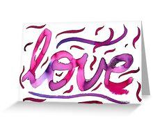 love ink Greeting Card