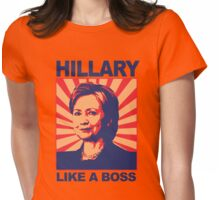Hillary: Like a boss Womens Fitted T-Shirt