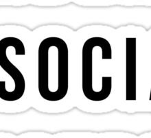 Gender is a Social Construct - Black Text Sticker