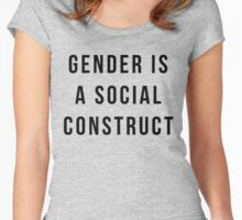 Gender is a Social Construct - Black Text Women's Fitted Scoop T-Shirt