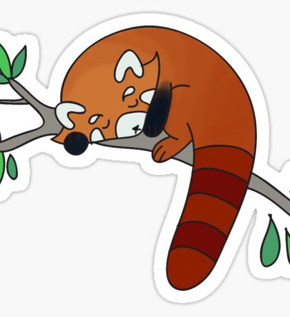 Red Panda Sleeping Sticker