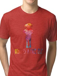 Dobby Is A Free Elf - Colourful Silhouette Tri-blend T-Shirt
