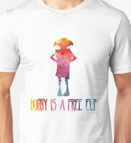 Dobby Is A Free Elf - Colourful Silhouette Unisex T-Shirt