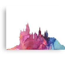 Hogwarts Castle Colourful Silhouette Canvas Print