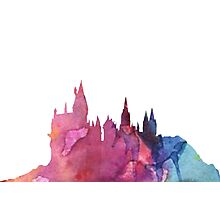 Hogwarts Castle Colourful Silhouette Photographic Print